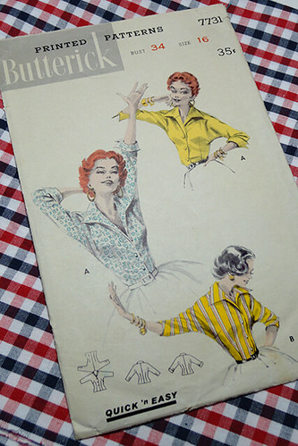 Butterick 7731 & Plaid Shirting