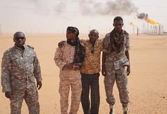 Tebu security staff at Saharan oil fields in southern Libya. Credit: Rebecca Murray/IPS