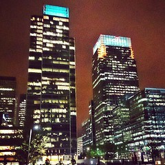 Docklands Lights #buildings. #architecture #lights #night #London #Docklands #Isle_of_Dogs #Canary_Wharf #E14