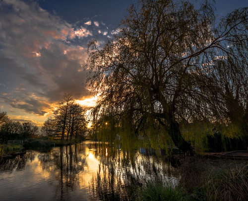 sunset water pond raw sony barry turner fishbourne chichester lightroom blinkagain alpha65