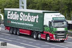 Volvo FH 6x2 Tractor - PX11 CCY - Gemma Kate - Eddie Stobart - M1 J10 Luton - Steven Gray - IMG_9838