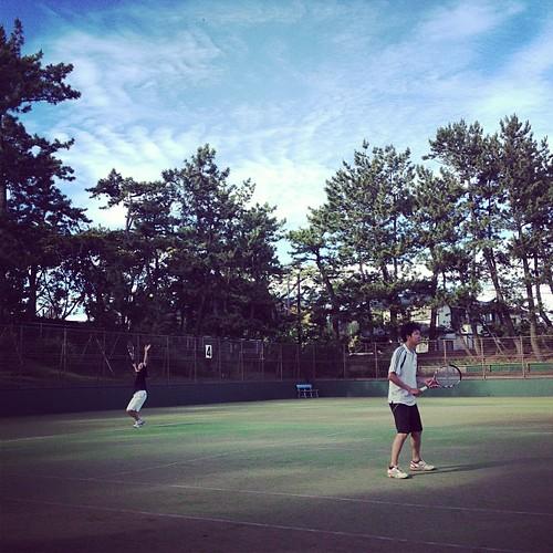 テニス気持ちいい(^^)