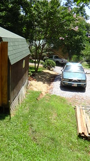 drainage ditch after excavation