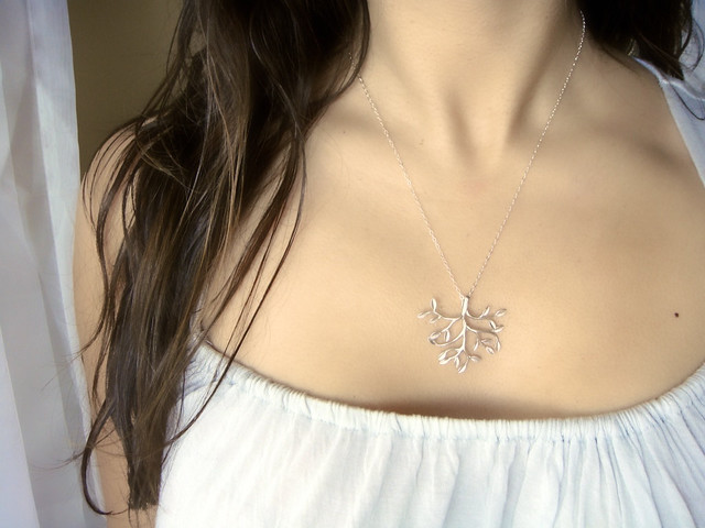 Silver Necklace: Tree of Life