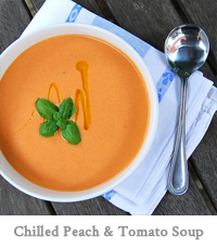 Chilled Peach & Tomato Soup