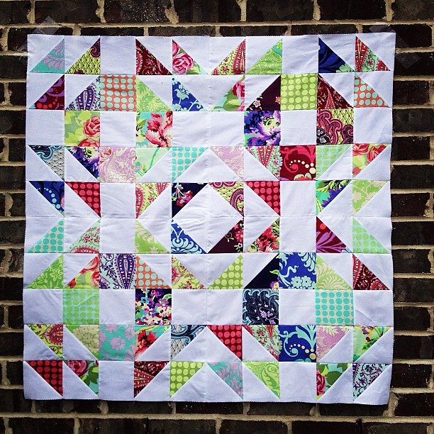 New Amy Butler quilt top complete! This one may be for my shop! #amybutler @etsy