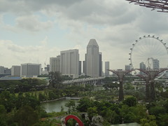 Marina Bay Skyline, with the Singapore Flyer in the background