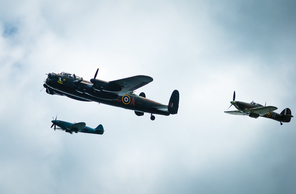 battle of britain memorial flight, battle of britain, lancaster bomber, lancaster, spitfire, WW2, lincolnshire