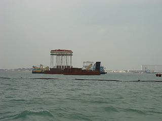 006 Bouw van brug naar Macau