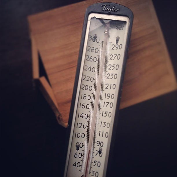 Recently acquired: vintage Taylor industrial-style thermometer. Available soon in the shop. #vintagesoupshop