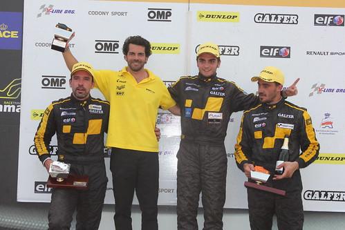 Antonio Martinez y Gonzalo Martín de Andrés en lo más alto del podio