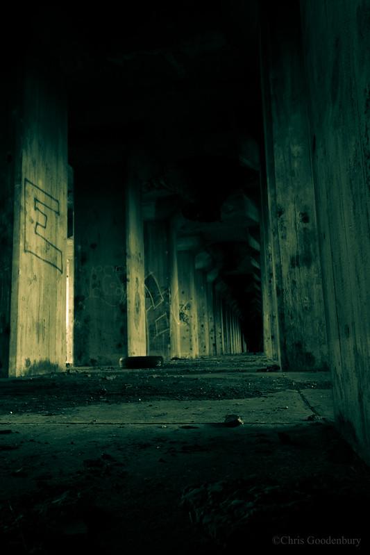Sunlight, Dust, and a Thousand Fading Columns   Cargill Grain Elevator