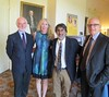 Akhil Reed Amar (center) with Denis Galligan, Suzanne Clary and John Adams