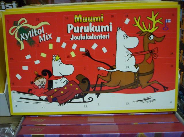 Un calendario de los Mumins.