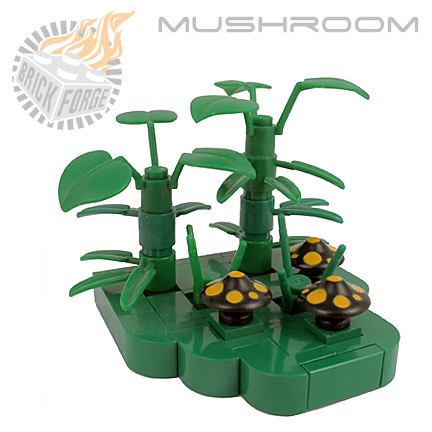 Mushroom - Black (medium orange spots)