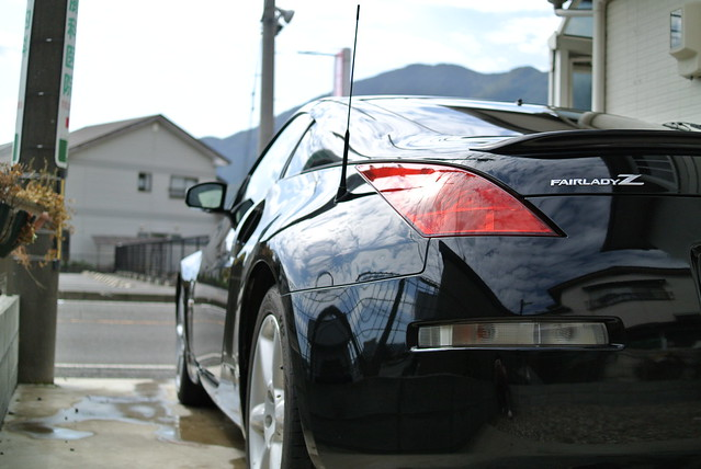 洗車後のZ子ちゃん