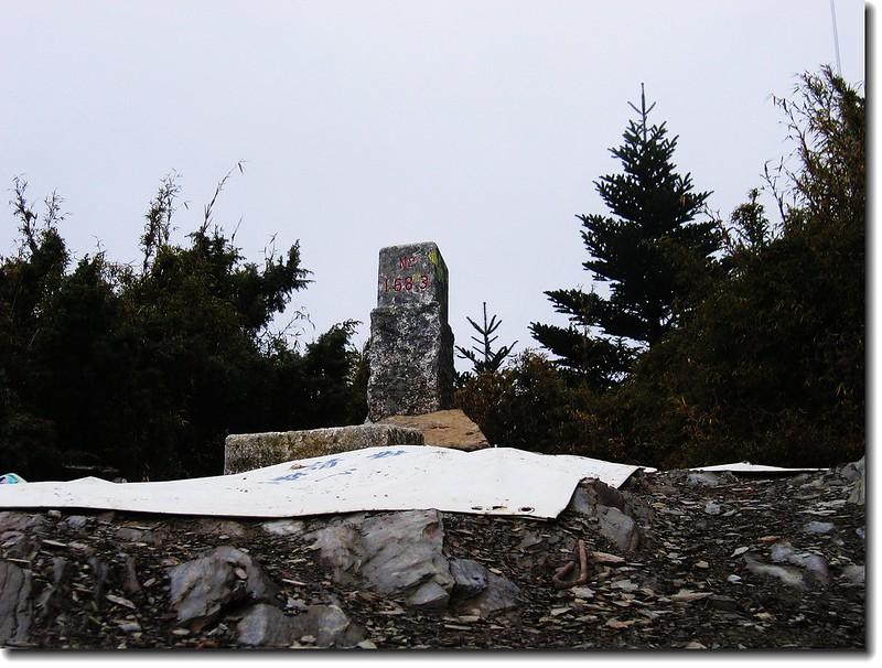 關山嶺山二等三角點(#1683 Elev.3176 m)