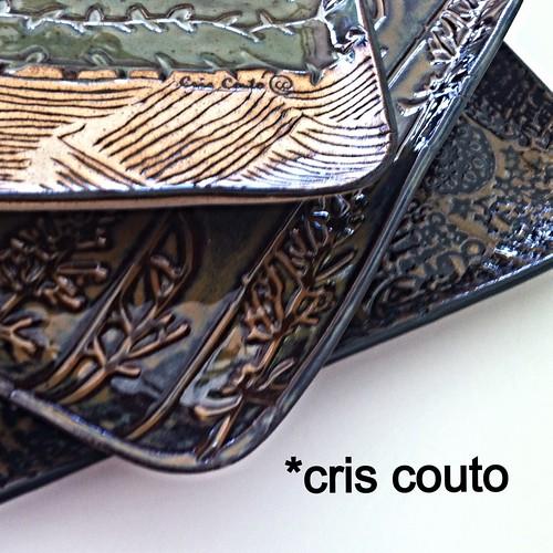 3 Pratos quadrados by cris couto 73