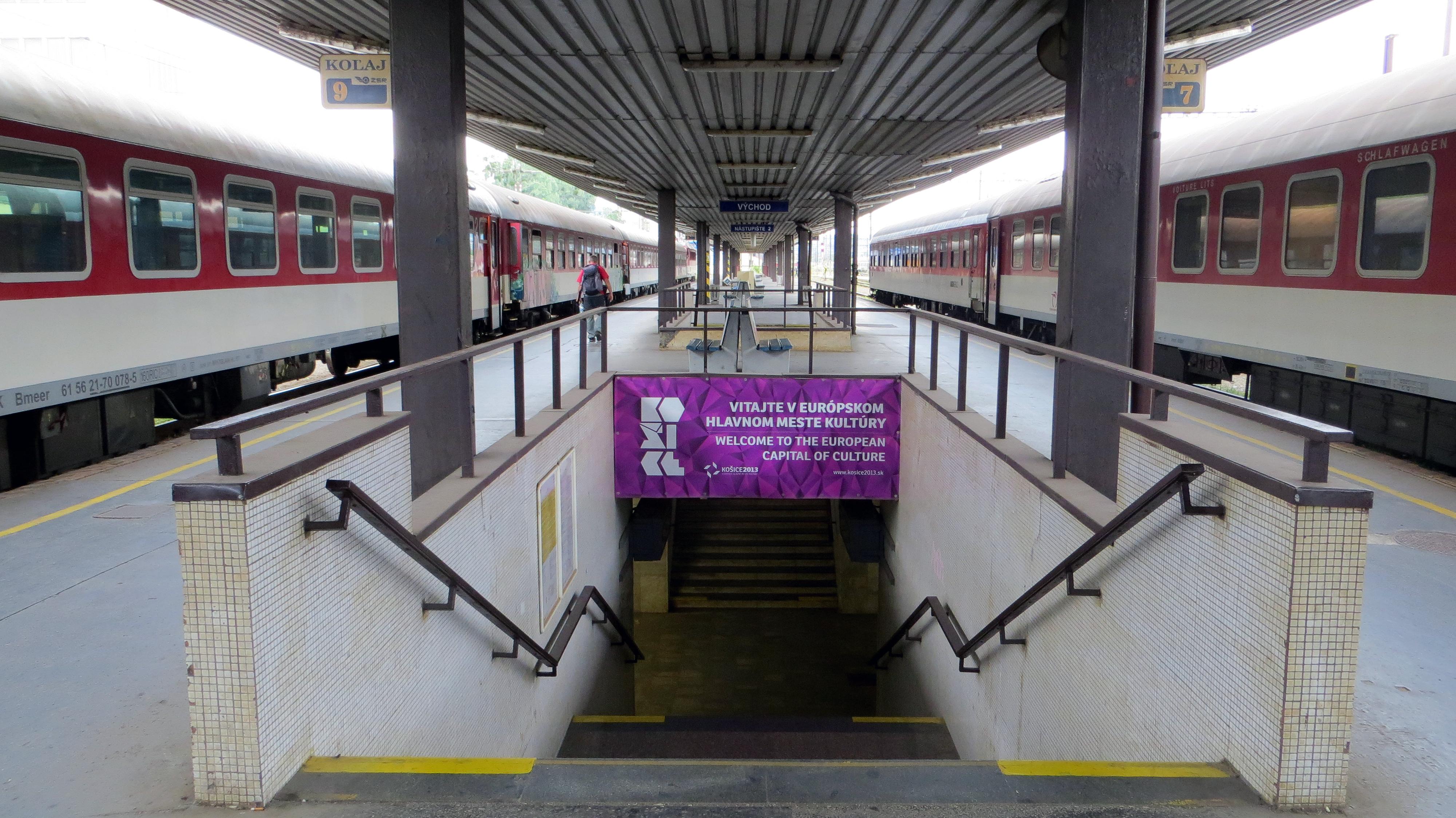 Košice train station, Slovakia, 2013