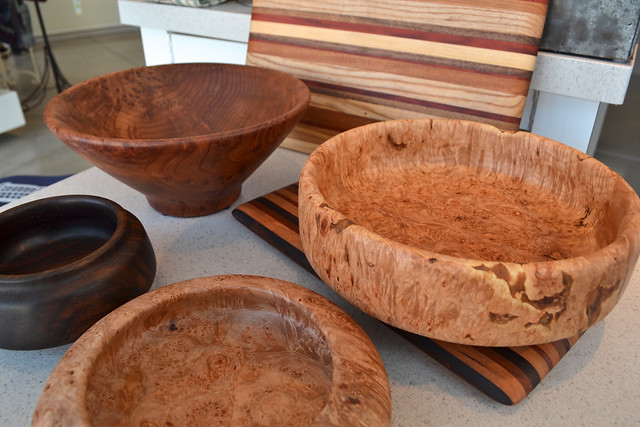 Brooklyn artisan Phil Gautreau makes bowls and cutting boards from salvaged wood, some from trees that fell during Hurricane Sandy. Photo by Blanca Begert.