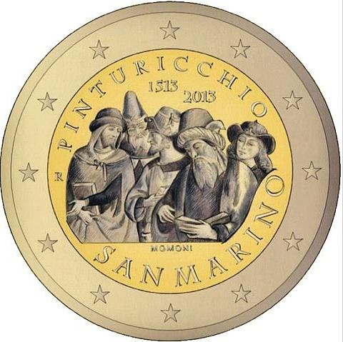 Oficiálne bal. 2 Euro San Marino 2013, Pinturicchio