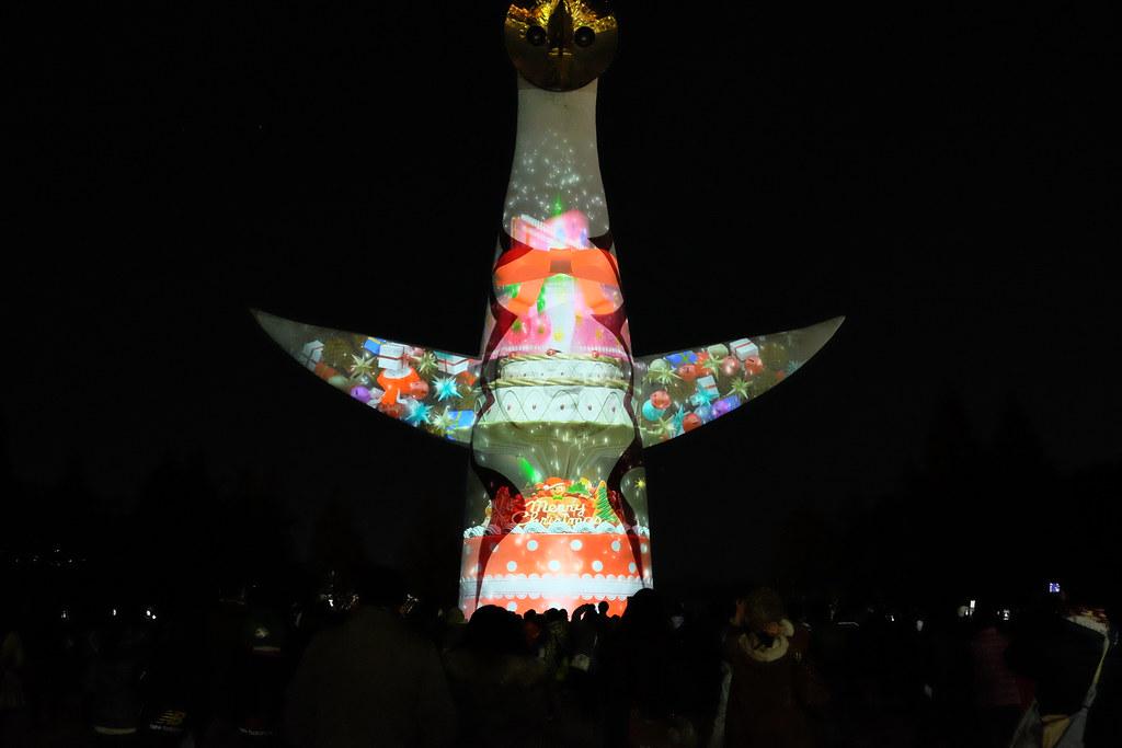 Illumi Night Banpaku Xmas (10)  Beam painting show