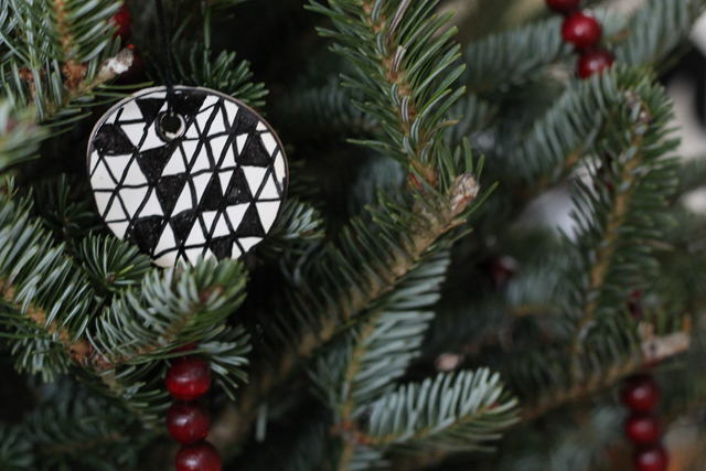 DIY painted sculpy Christmas ornaments and embroidered astrology constellation ornaments