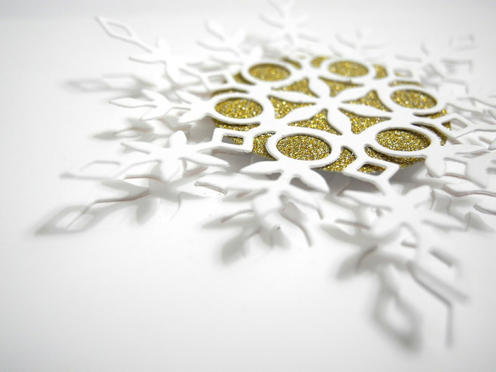 Gold Snowflake Detail