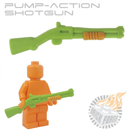 Pump-Action Shotgun - Lime Green (med orange pump print)