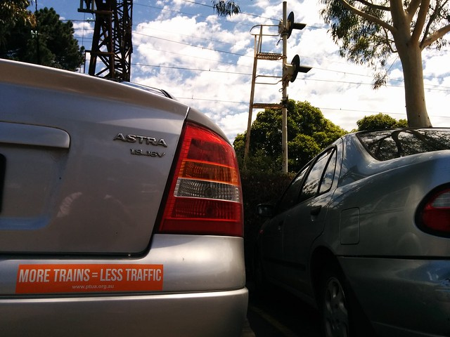 Parked at Southland, next to the railway station