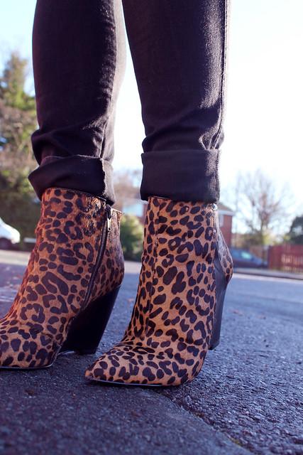Leopard M&S boots