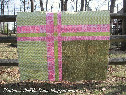 Quilt Back~Faith Circle Row Quilt