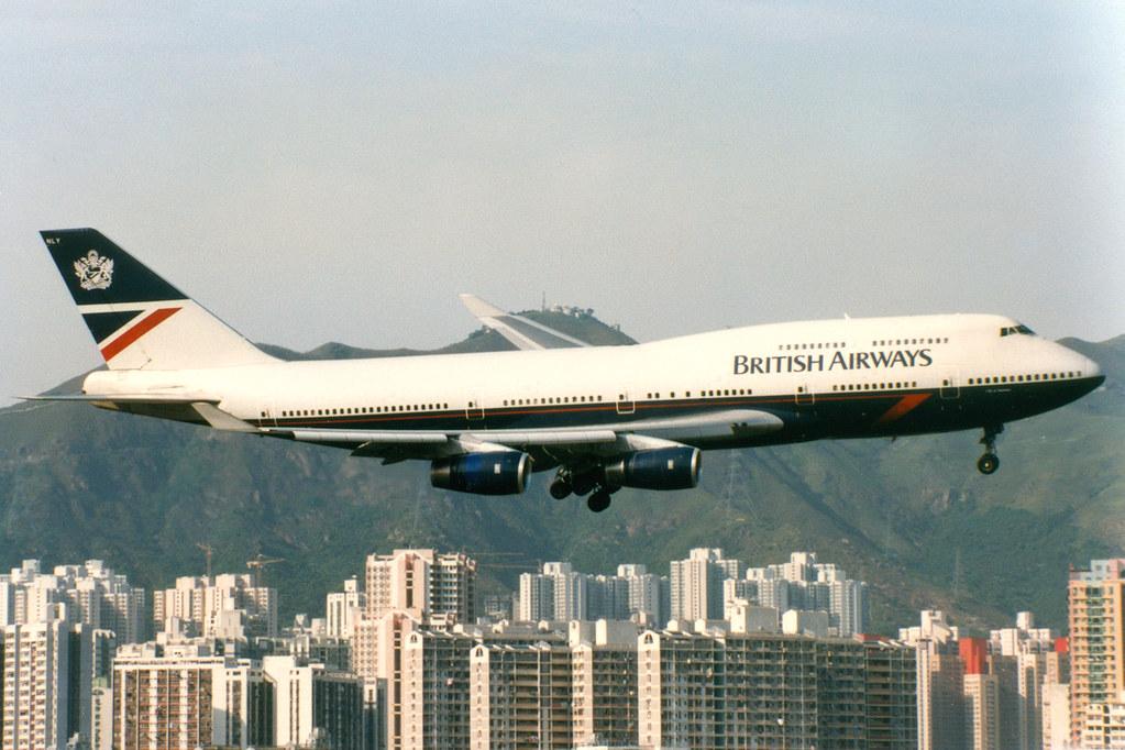 British Airways | Boeing 747-400 | G-BNLY | Hong Kong Kai Tak