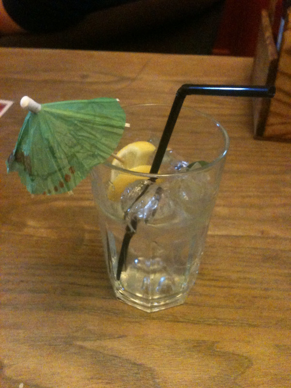Drink with umbrella