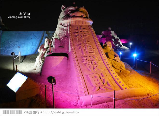 【2014台灣燈會在南投】南投沙雕燈會~夜間點燈好浪漫!還有精彩光雕秀14
