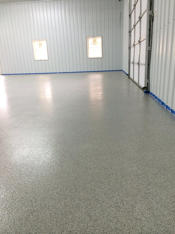Vinyl chip garage floor in Lynchburg, VA