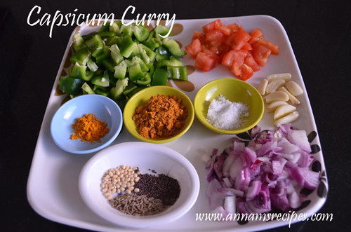 Chettinad Capsicum Curry