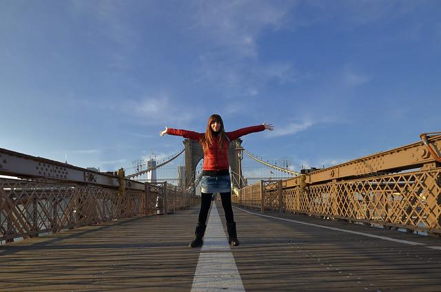 En el puente de Brooklyn!