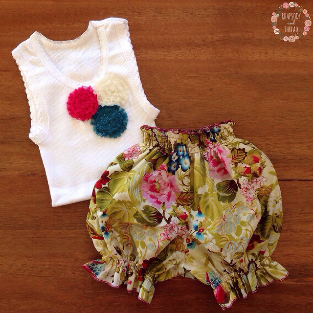Baby Singlet & Bloomer Set by Rhapsody and Thread (Etsy)