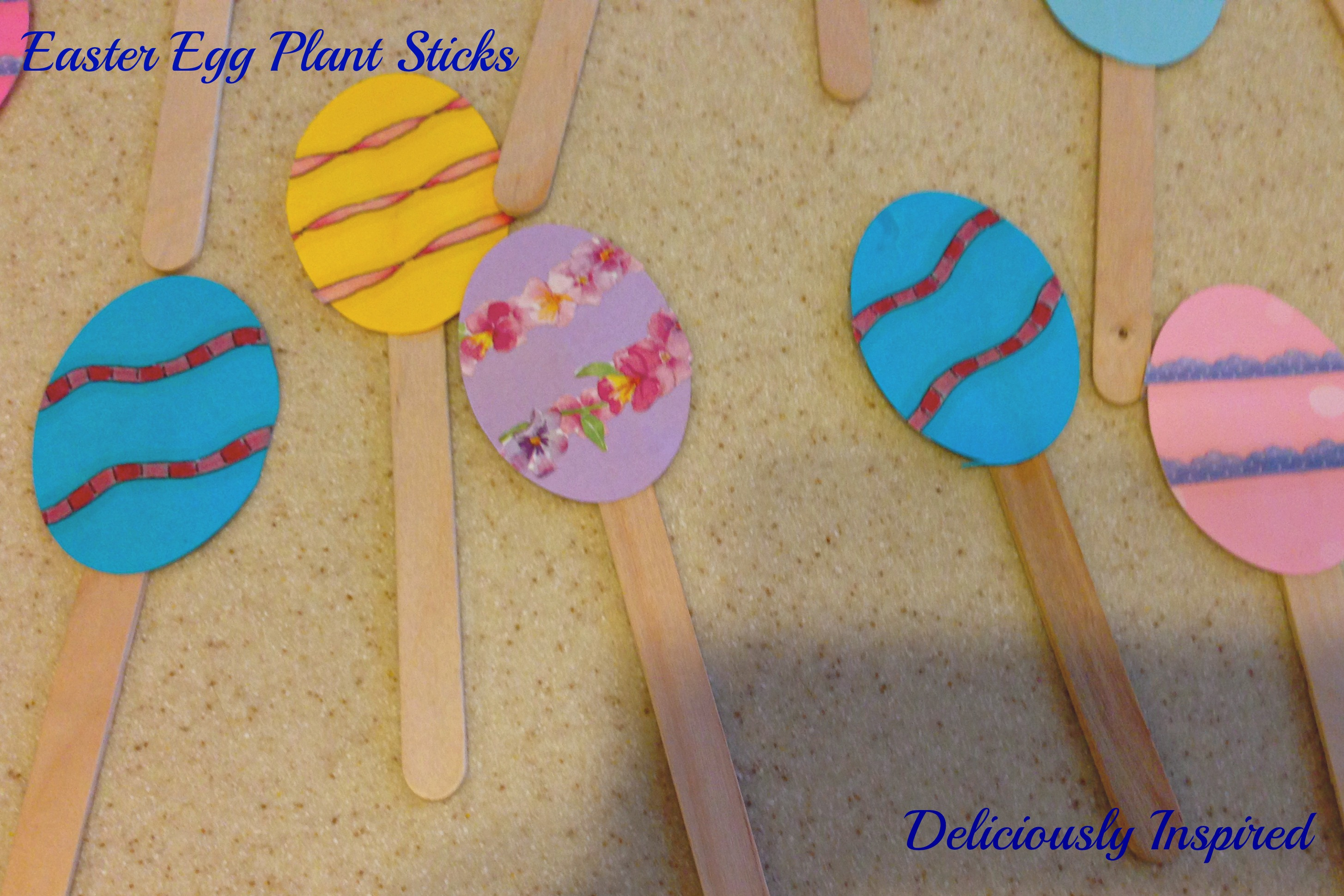 Easter Egg Plant Sticks