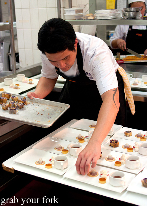 Plating dessert at the Filipino Barbie