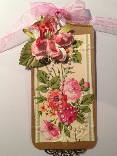Vintage Tag with Roses by beemgee1