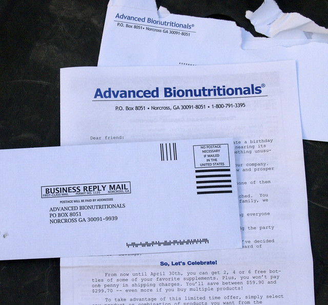 Junk Mail, Advanced Bionutritionals, Norcross Georgia