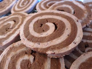 Chocolate Cherry Whirly-Swirly Cookies