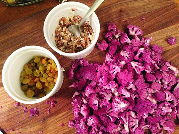 Spaghetti with Purple Cauliflower Sauce - The Amateur Gourmet