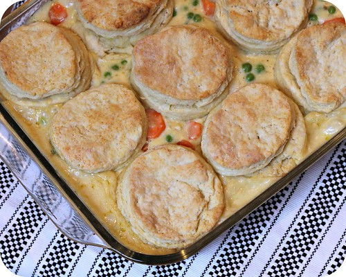 So Tasty So Yummy: Chicken Pot Pie with Cream Cheese Biscuits