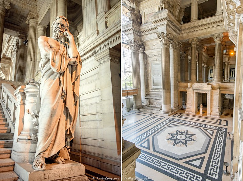 statue and floor - Justice Palace, Brussels