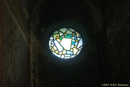 Saxon window glass in St Paul's Jarrow