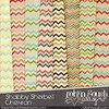 Shabby Chevron Digital Paper Pack - Sherbet Chevron Digital Scrapbook Paper Backgrounds by RobynGoughDesigns by clikchic