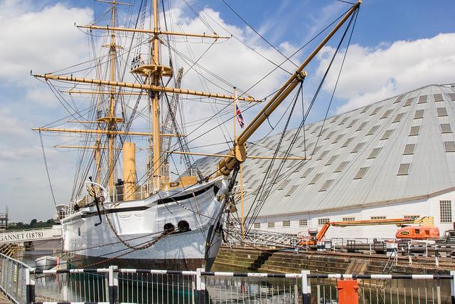 Chatham Historic Dockyard - HMS Gannet (1878)